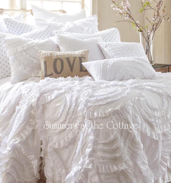 Blissful Cottage French Market Heavenly White Bedding