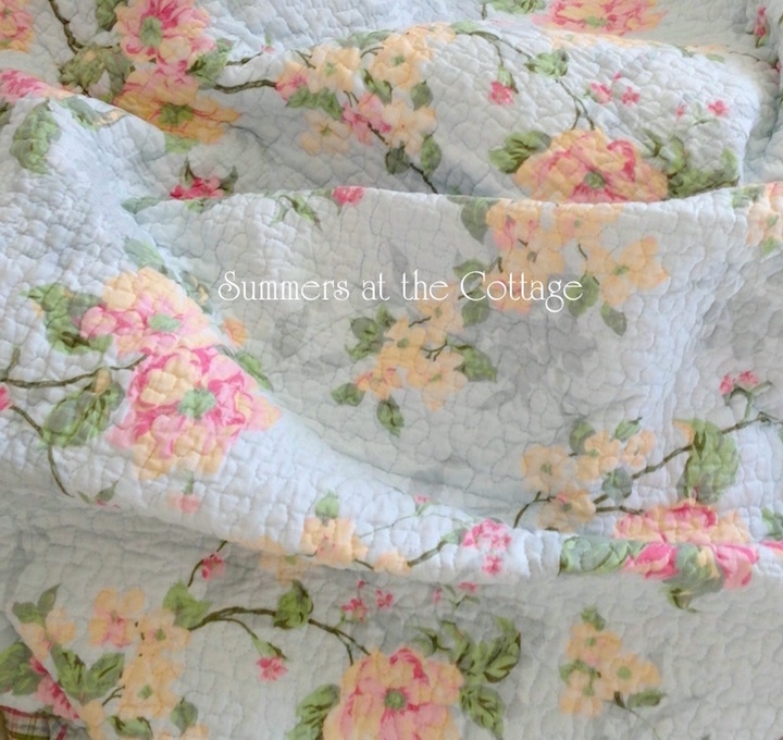 Laura Ashley Tiffany Blue Magnolia Rose Bedding