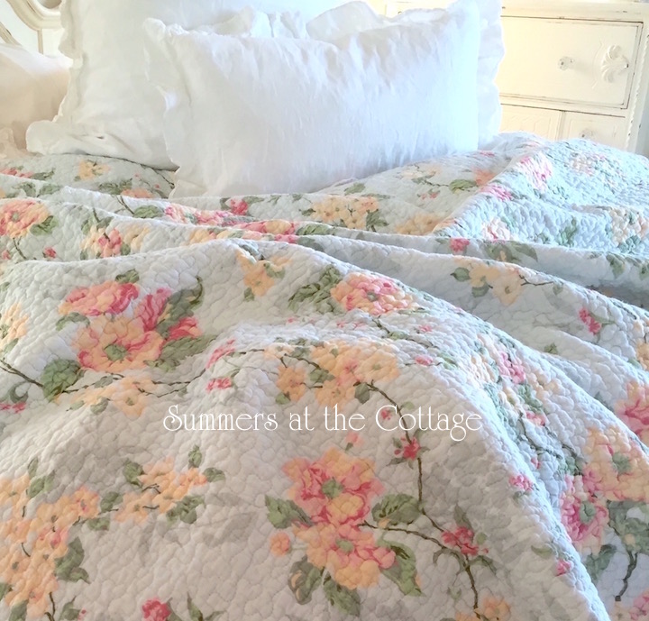 Tiffany Blue Magnolia Rose Bedding