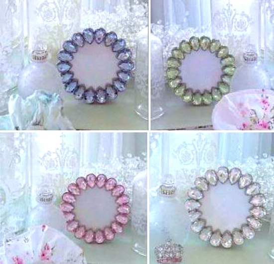 Available in pink, blue, crystal clear, and green!