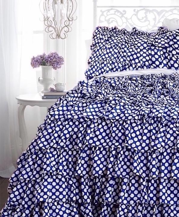 Petticoat Ruffles Duvet Comforter Cover Set