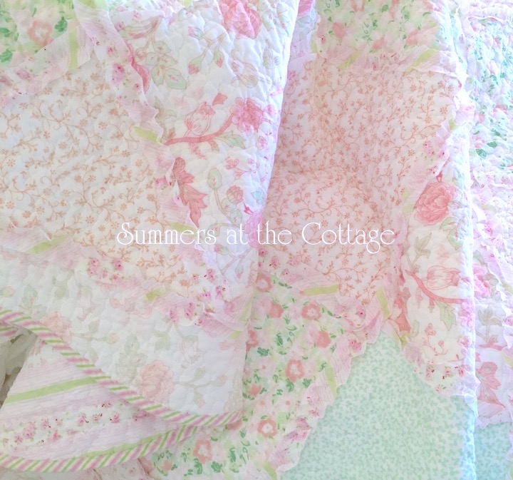Pastel Patchwork-Ruffled-Quilt
