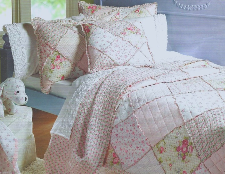 Dreamy White Ruffled Quilt