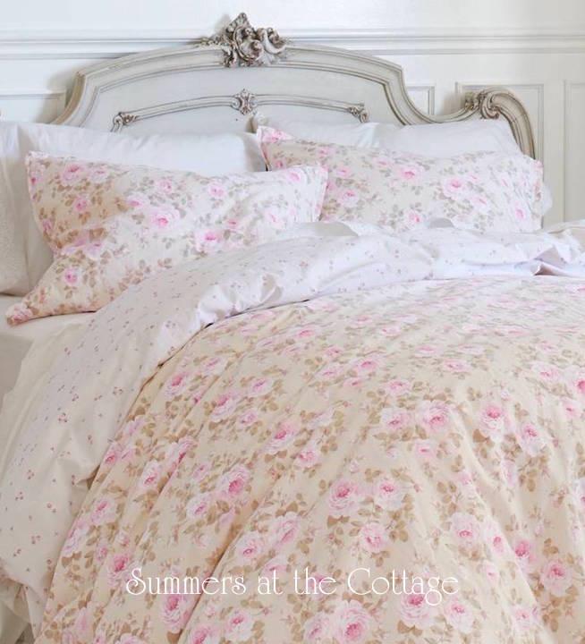 Pink Parfait Roses Duvet Set