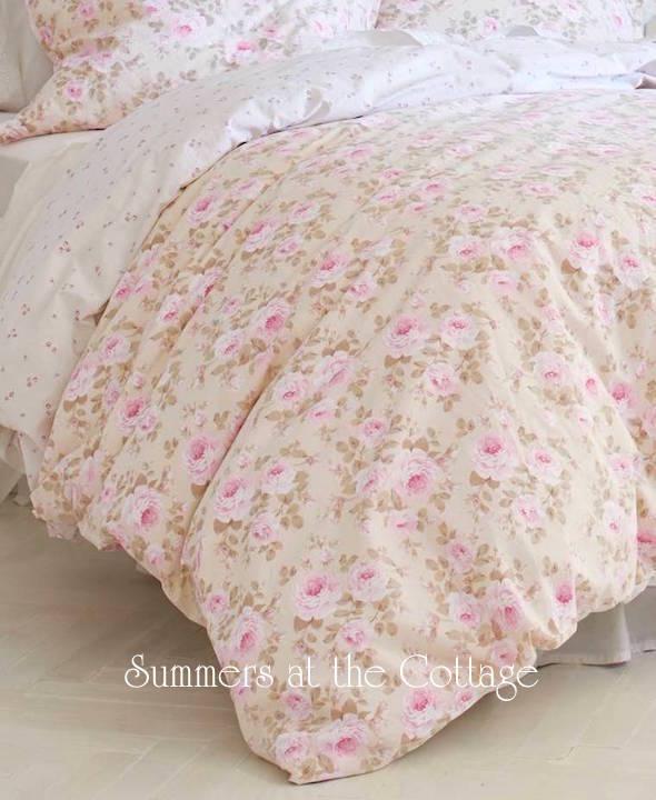 Pink Peony Roses Duvet