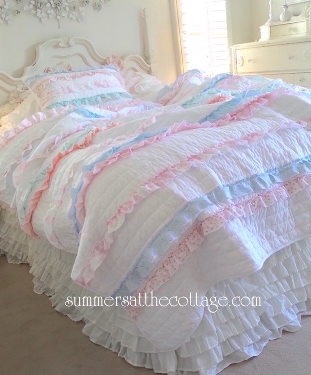 Tiers of Joy Petticoat Ruffle Quilt Cottage Colors