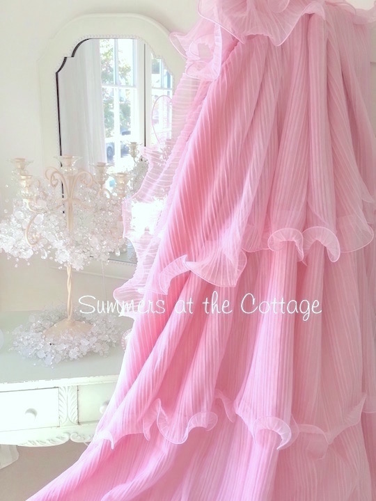 Pink Ruffles Shower Curtain