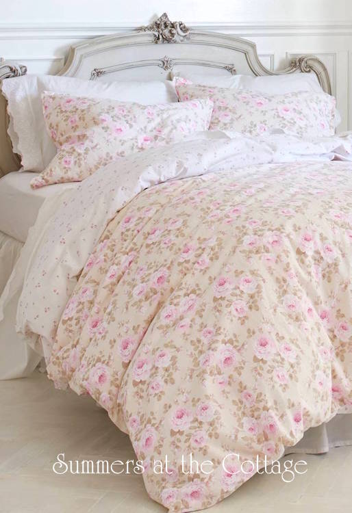 Pink Parfait Peony Roses Bedding