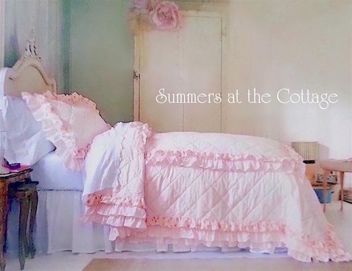 Ruffled Pink Petticoat Ruffled Quilt