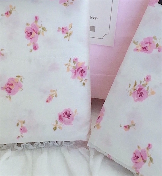 Pink Roses Queen Sheet Pillowcases!