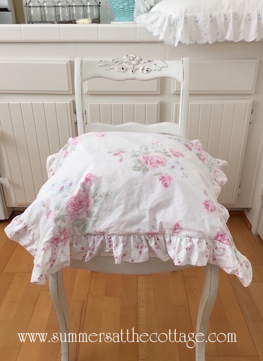Summers Roses Chair Cushion Cover
