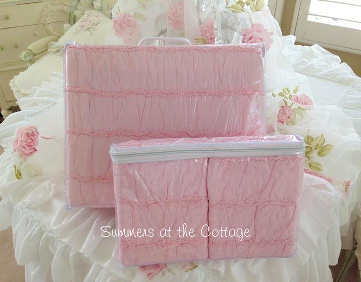 Pink Rag Ruffled Quilt Set