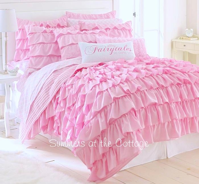 Pink Ruffles Bedding