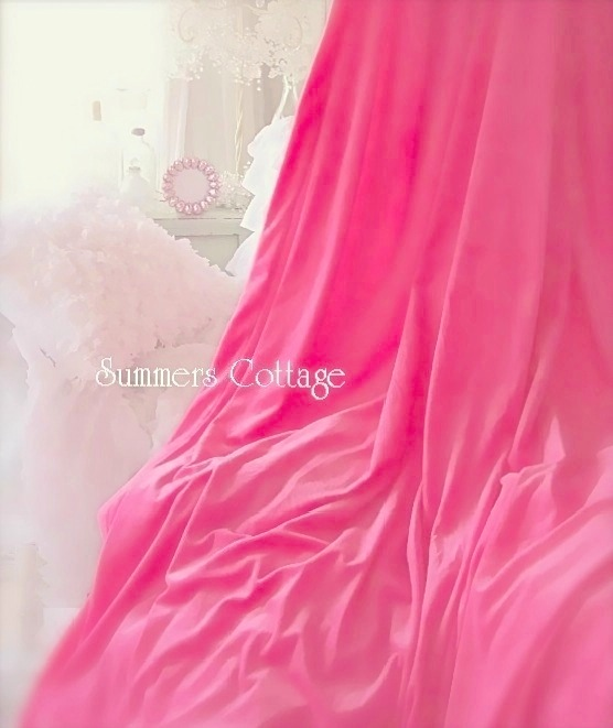 Pink Velvet Drapes
