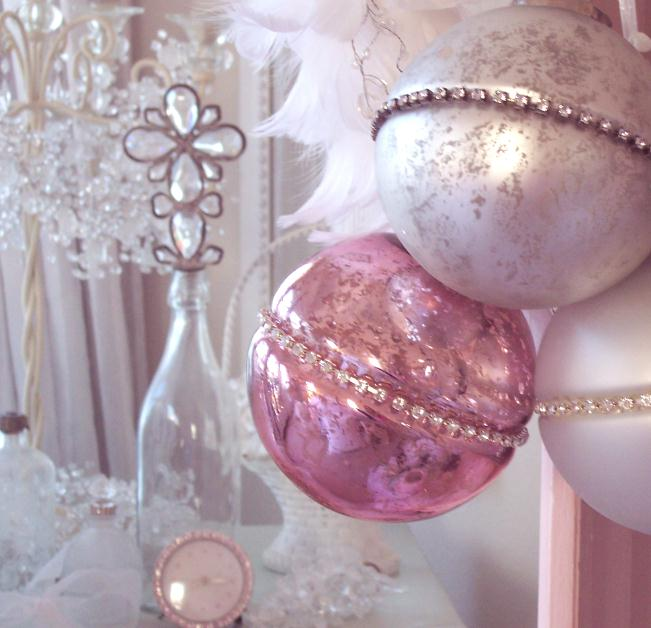 Pink Mercury Glass Ornament