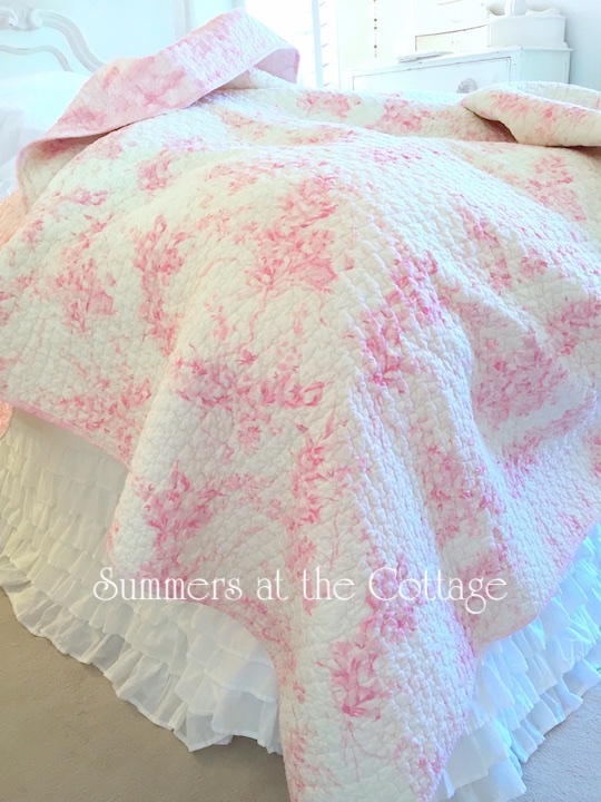 Powder Puff Pink Roses Quilt