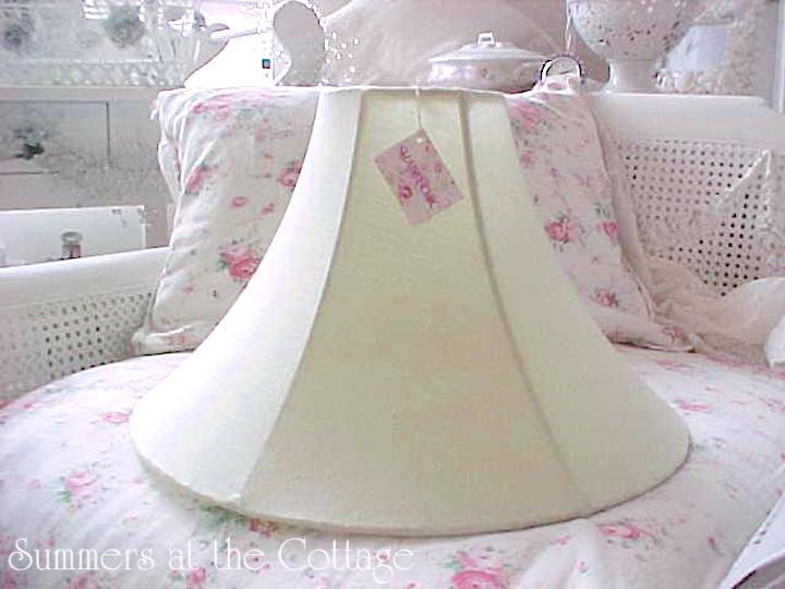 Shabby Chic Linen Mint Julep Lamp Shade