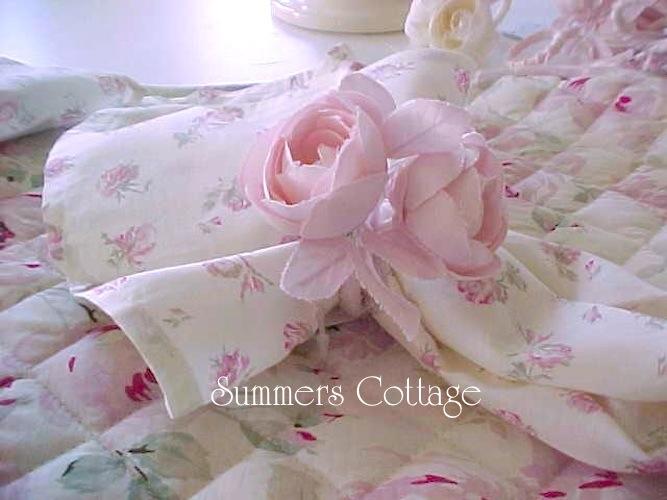 Rachel Ashwell roses napkin rings