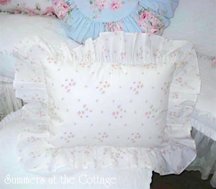 Petite Bouquet Sprinkles Ruffles Pillow