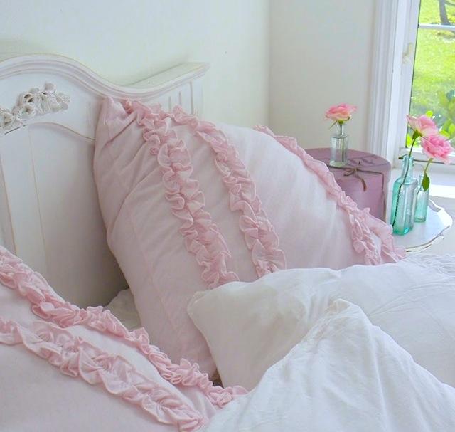 Rachel Ashwell Pink Ruffled Pillow