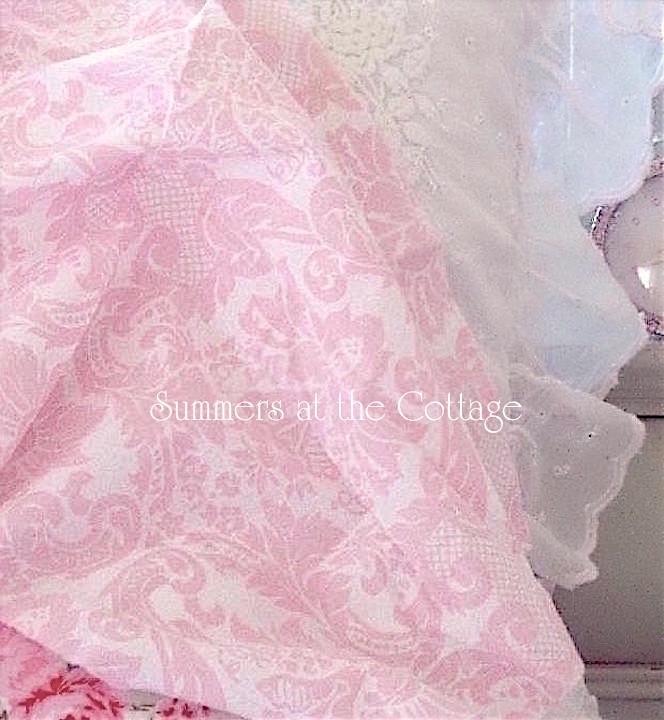 Rachel Ashwell Damask Pink White