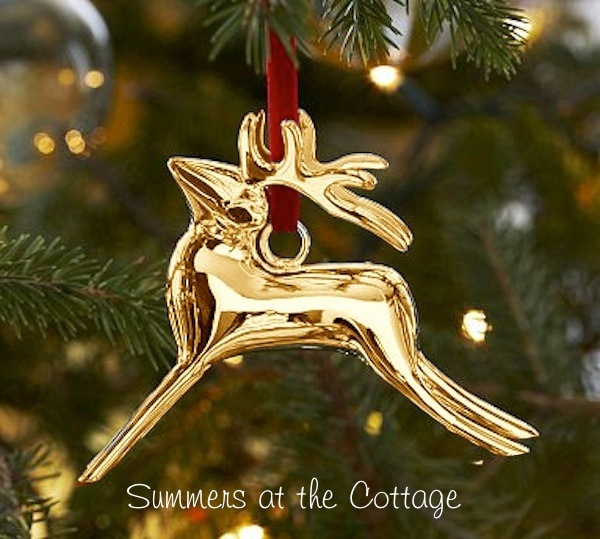 Pottery Barn Reindeer Ornament