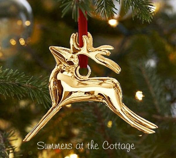 Pottery Barn Reindeer Ornament