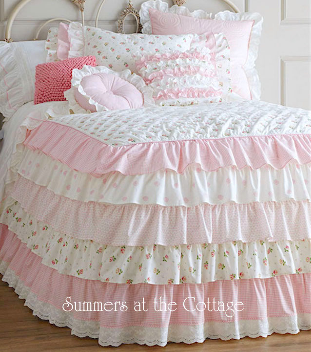 Cottage Colors Petticoat Ruffles Quilt