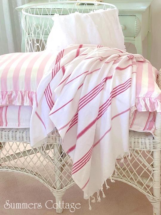 Red Striped Beach Towel