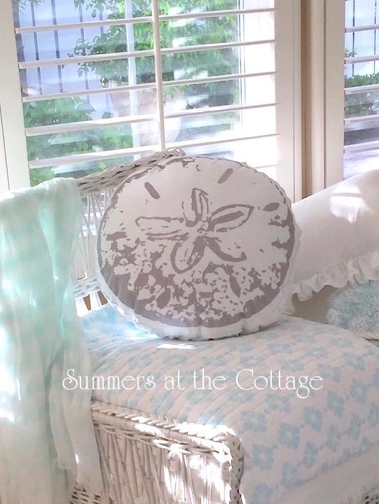 Coastal Sand Dollar Pillow