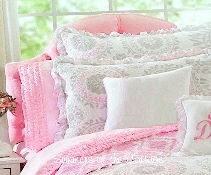 Pretty in Pink Ruffled Sheet Set