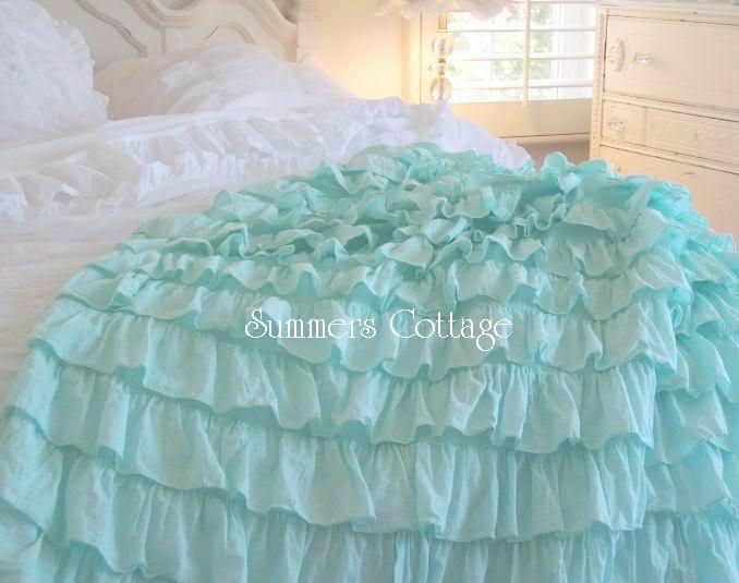 Aqua Teal Shower Curtain