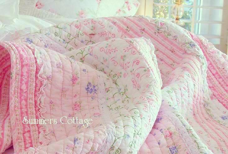 Pottery Pink White Ruffles