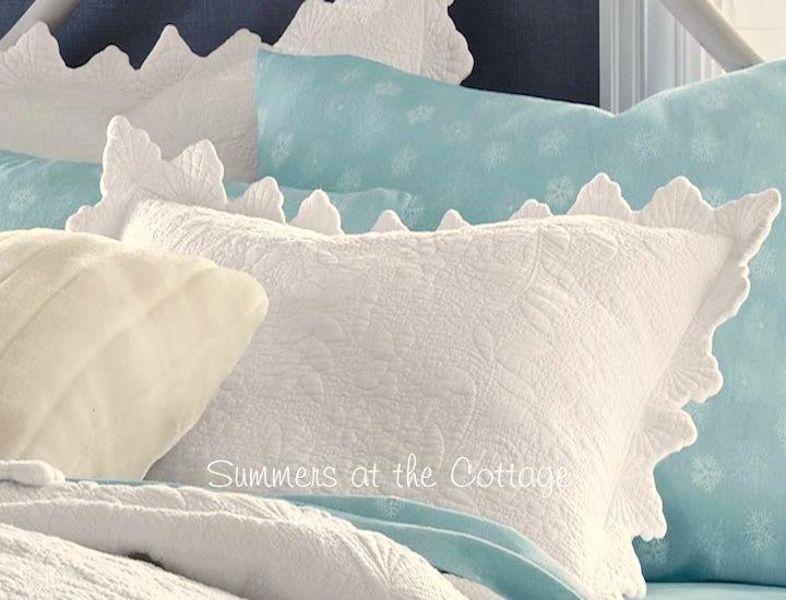 White Seashell Matelasse Pillow Sham