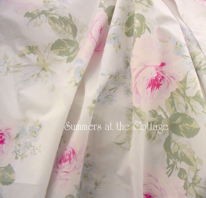 Authentic Shabby Chic Jubille Pink Roses Duvet