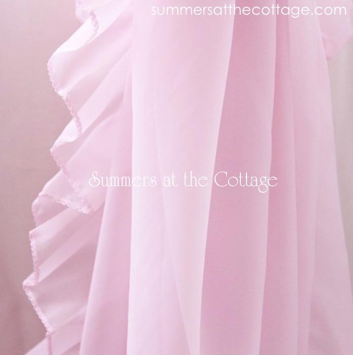 Pink Ruffled Drapes