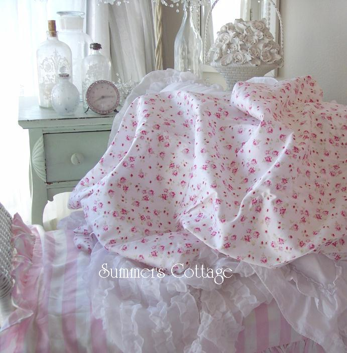 King Pink Rosebud Roses Sheet Set