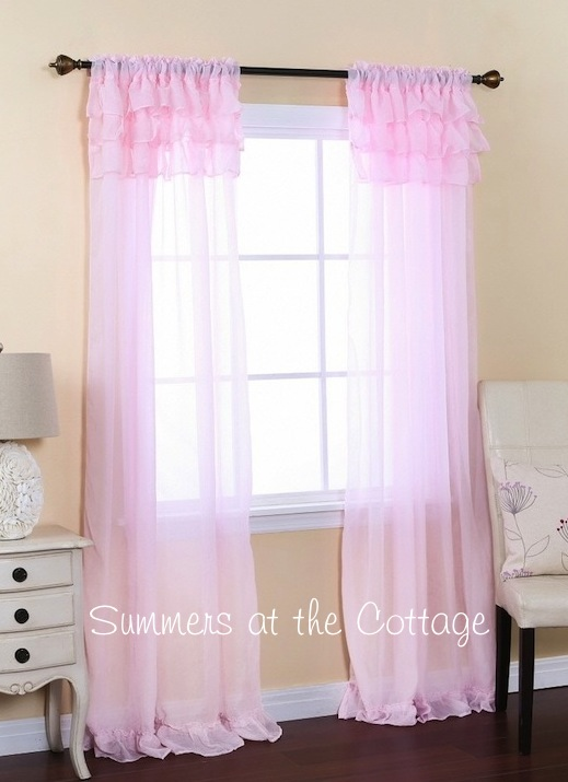 Pink Panel Curtains