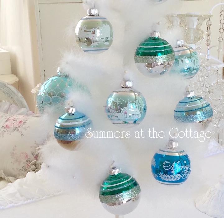 Shiny Brite Vintage Glass Christmas Oranaments
