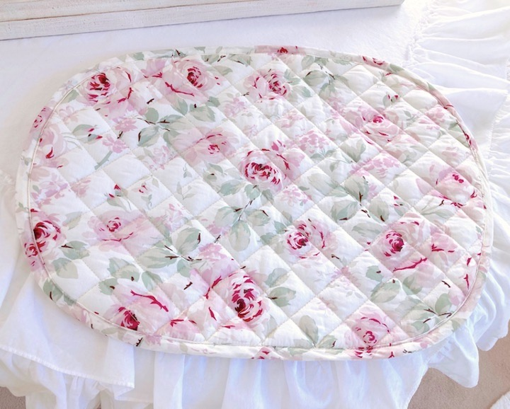 Shabby chic pink roses napkins
