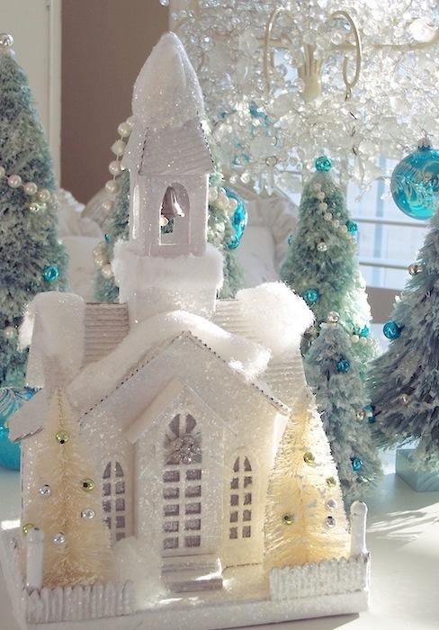 White Flocked Christmas Trees Sale