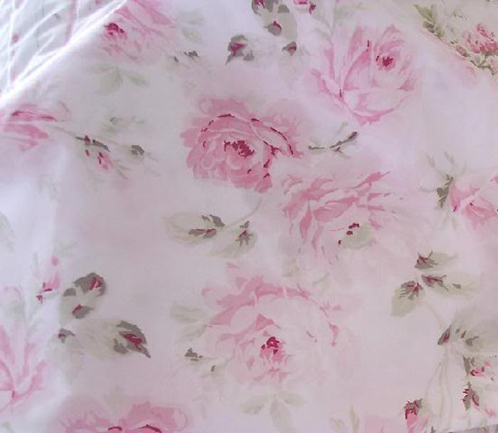 Sugarplum Sorbet Pink Roses Fabric
