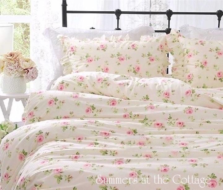 Shabby Pink Roses Chic Duvet