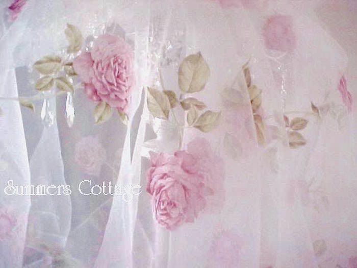 Pink Roses on Silk