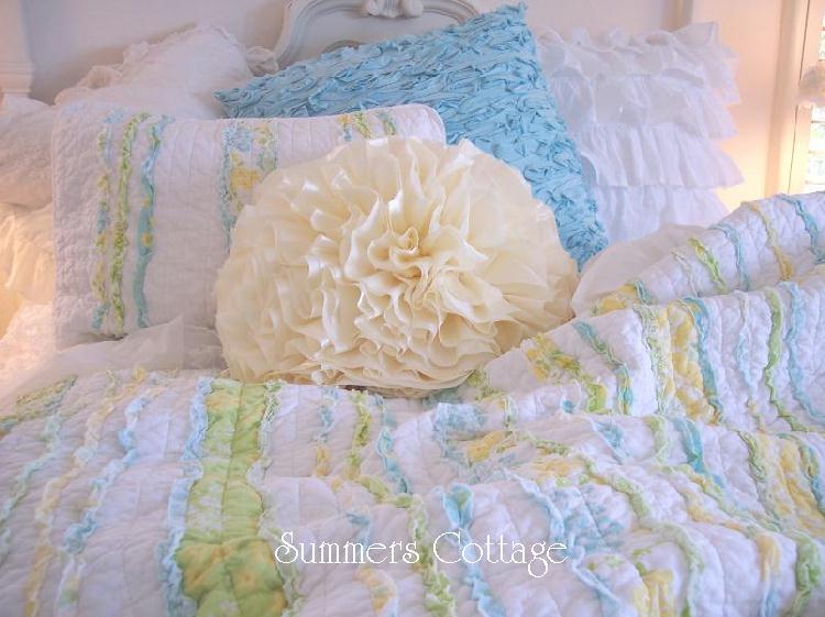 Aqua Beach House Pillow