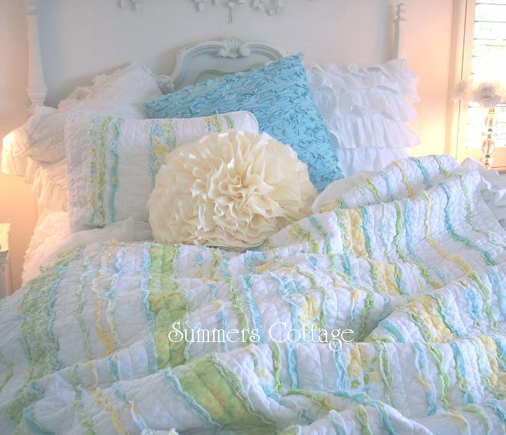 Shabby Chic Beach Pillows : Shabby Chic Bedding Cottage Pillows & Shams