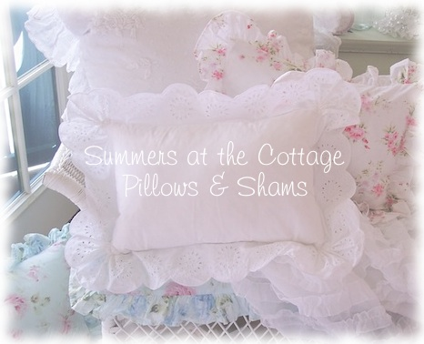 Shabby Chic Cottage Pillows & Pillow Shams