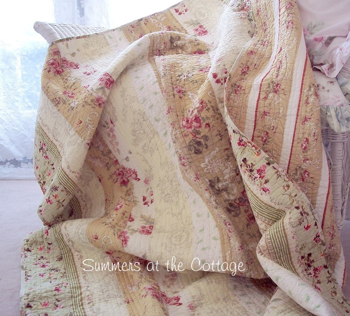 Provence Taupe Wine Roses French County Throw