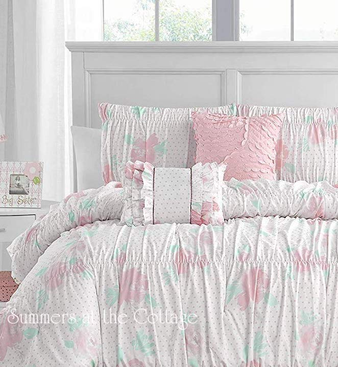 Pink Parfait Roses Comforter Set