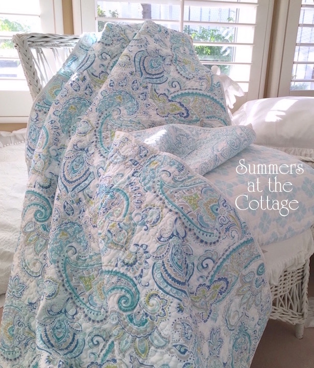 Paisley Ocean Waves Bedding